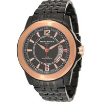 Mount Royale Men's Watch Black Dial Stainless Steel Band Dress-7R75