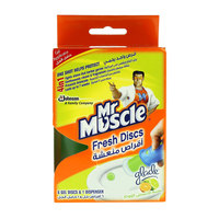 Mr Muscle 4In1 Fresh With Fresh Breeze Essence 6 Gel Discs & 1 Dispenser