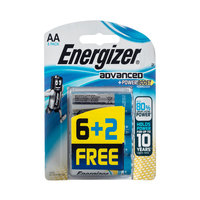 Energizer Advanced AA 6+2 Free