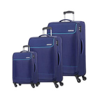 American Tourister Jamaica Spinner Luggage Bag Set Navy 3 Pieces