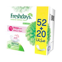 Freshdays Ladies Pads Normal Eco 72+24 Napkins