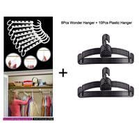 Feelings Plastic Hanger 10Pc + Wonder Hanger 8Pc Assorted Color