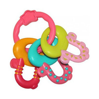 Toysmith Bright Starts Pretty License To Drool Teether Pink
