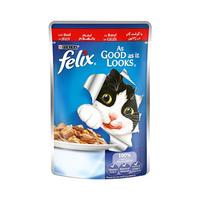 Felix As Good As It Looks Beef In Jelly Wet Cat Food Pouch 100GR
