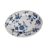 Claytan Rose Platter 35 Cm Blue