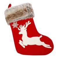 "Chamdol Red Xmas 18"" Reindeer Stocking"