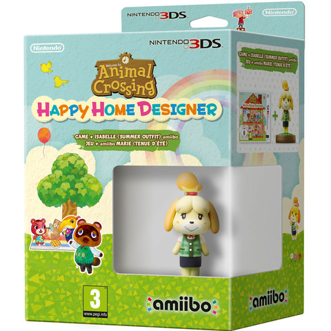 Nintendo-3DS-Animal-Crossing:-Happy-Home-Designer-Game+Isabelle(Summer-Outfit)amiibo