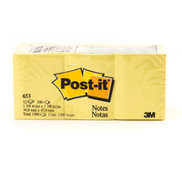 3M Post-it Yellow 1.5X2 Pack 12Pads