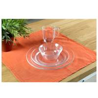 Arc Dinner Set Glass 12Pcs + 2 Mugs