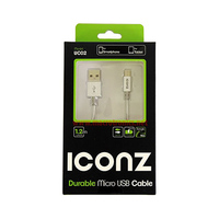 Iconz Micro USB Cable 1.2 Meter IMN-UC02 Silver