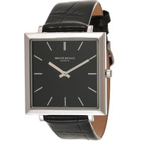 Mount Royale Men's Watch Black Dial Leather Band Watch-MR008
