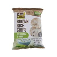 Rice Up Gluten Free Brown Rice Chips Sour Cream And Onion Flavor 25 Gram