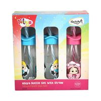 Renga Bottle With Straw 3 Pieces