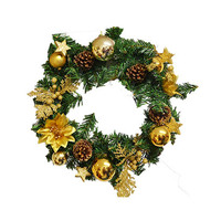 Christmas Decoration Wreath Gold Assorted 45CM