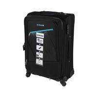 Morano Soft Luggage 4 Wheels Size 24 Inch  Black