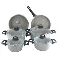 Cooking Set Granite Grey 10Pc