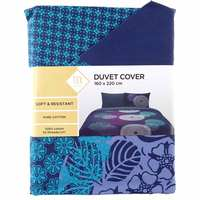 TEX Quilt Cover Single Dark Blue