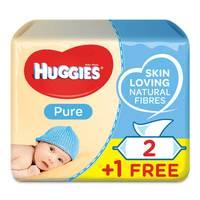 Huggies Baby Wipes Pure 56 Wipes x3