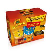 El Sabor Nachos Chips 225GR + Dip Sauce 300GR