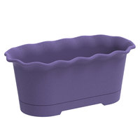Oval Planter +Tray 380X185X160mm