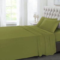 Tendance's Fitted Sheet Double Vende Green 137X193