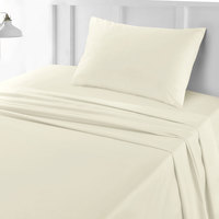 Tendance's Fitted Sheet Single Ivory 99X193