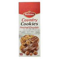 Hellema Country Cookies Hazelnut Chocolate 175g