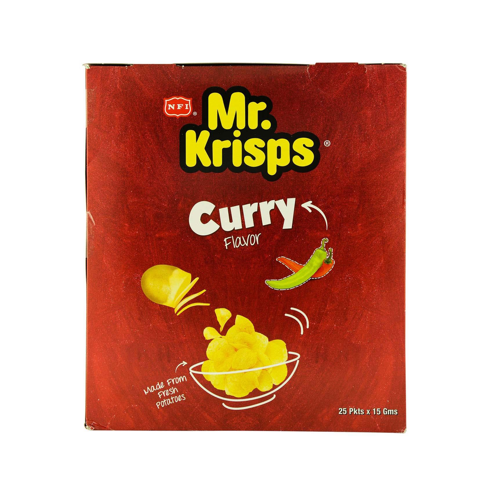 MR KRISPS CHIPS CURRY 15GX25