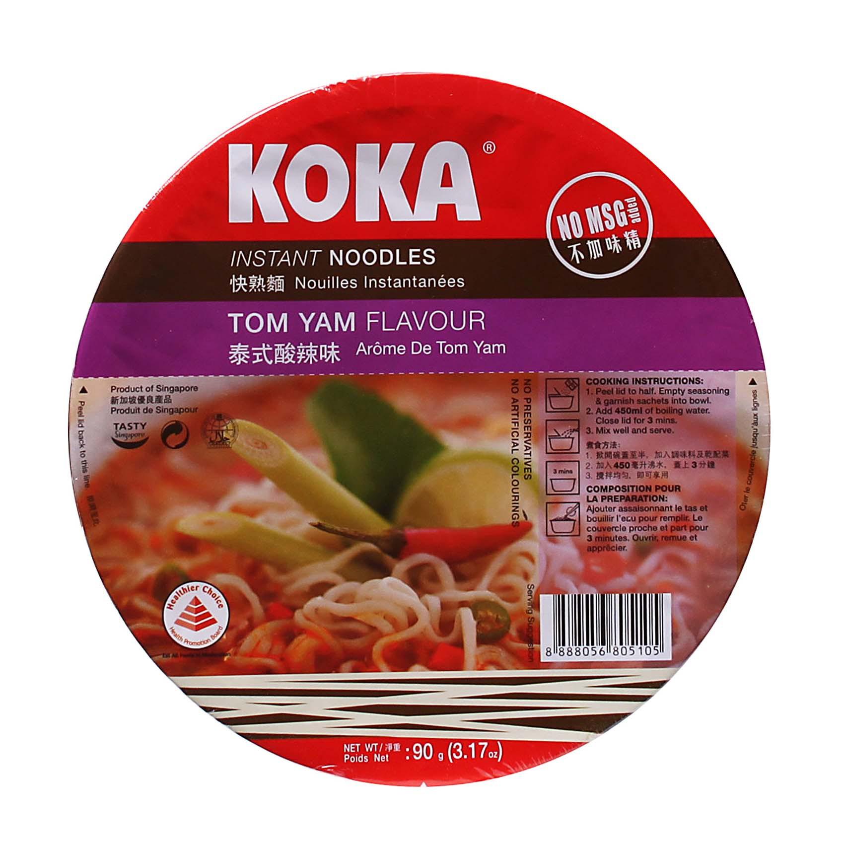 KOKA BOWL NOODLES TOM YAM 90GR