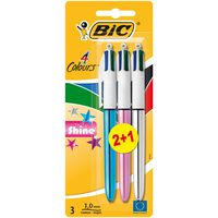 Bic 4 Colors Shine Blister 2+1 Assorted