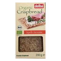 Delba Organic Crispbread Spelt-Sesame 200g