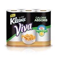 Kleenex Viva Calorie Absorbs 3 Rolls