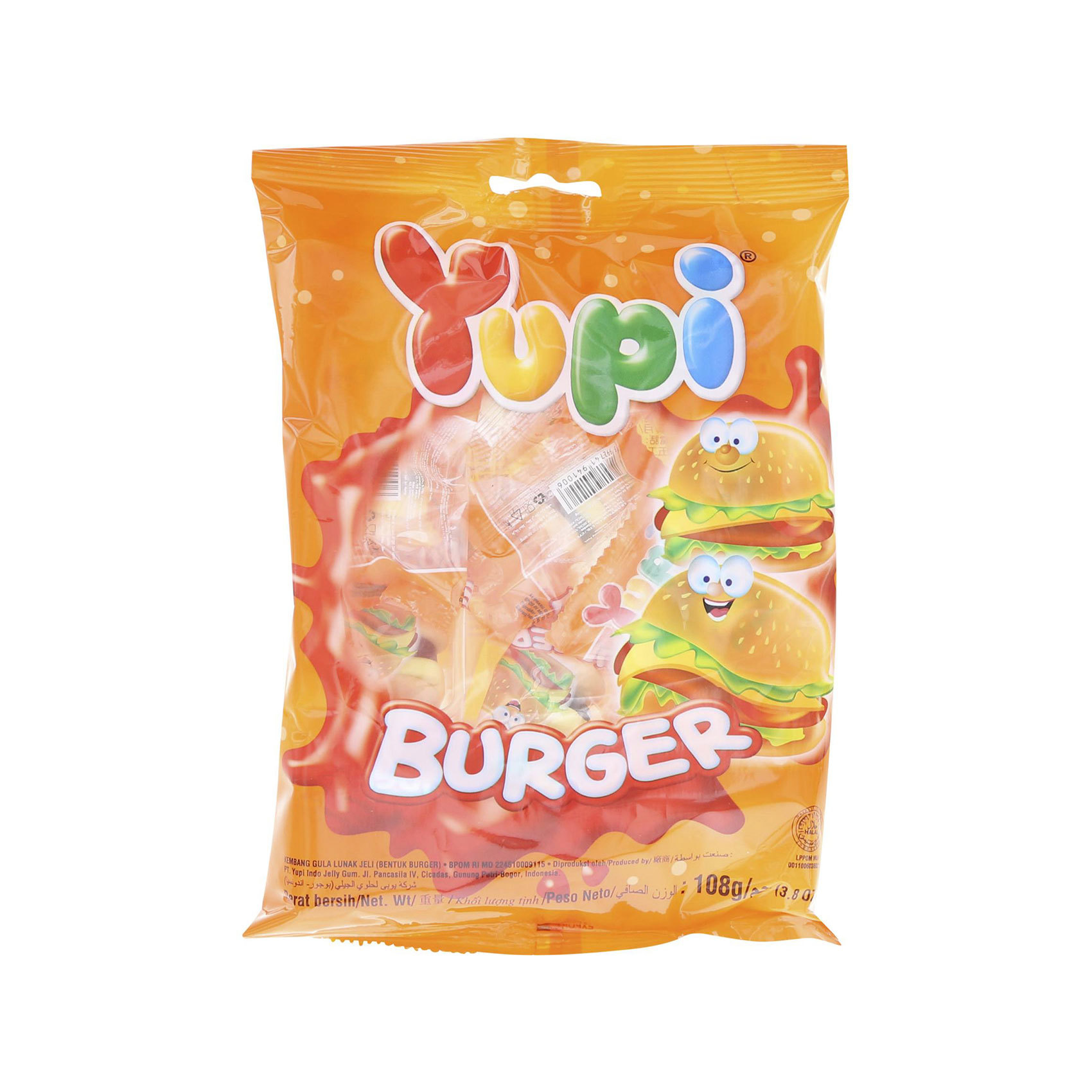 YUPI MINI BURGER BAG 120GR