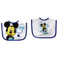 Mickey 2 pack Pollycotton Bibs
