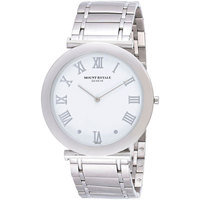 Mount Royale Men's Watch White Dial Stainless Steel Casual-MR007