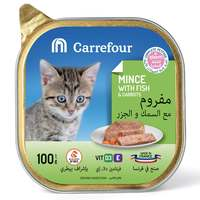 Carrefour Kitten Mince with Fish & Carrots 100g