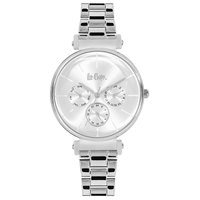 Lee Cooper Women's Analog Silver Case Silver Super Metal Strap Silver Dial -LC06335.330