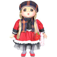 "Lotus - Gege Soft-Bodied Akiba Brunette Girl Doll 15"" - Red"
