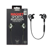 Remax Stereo Bluetooth Headset Magnet S2 Black