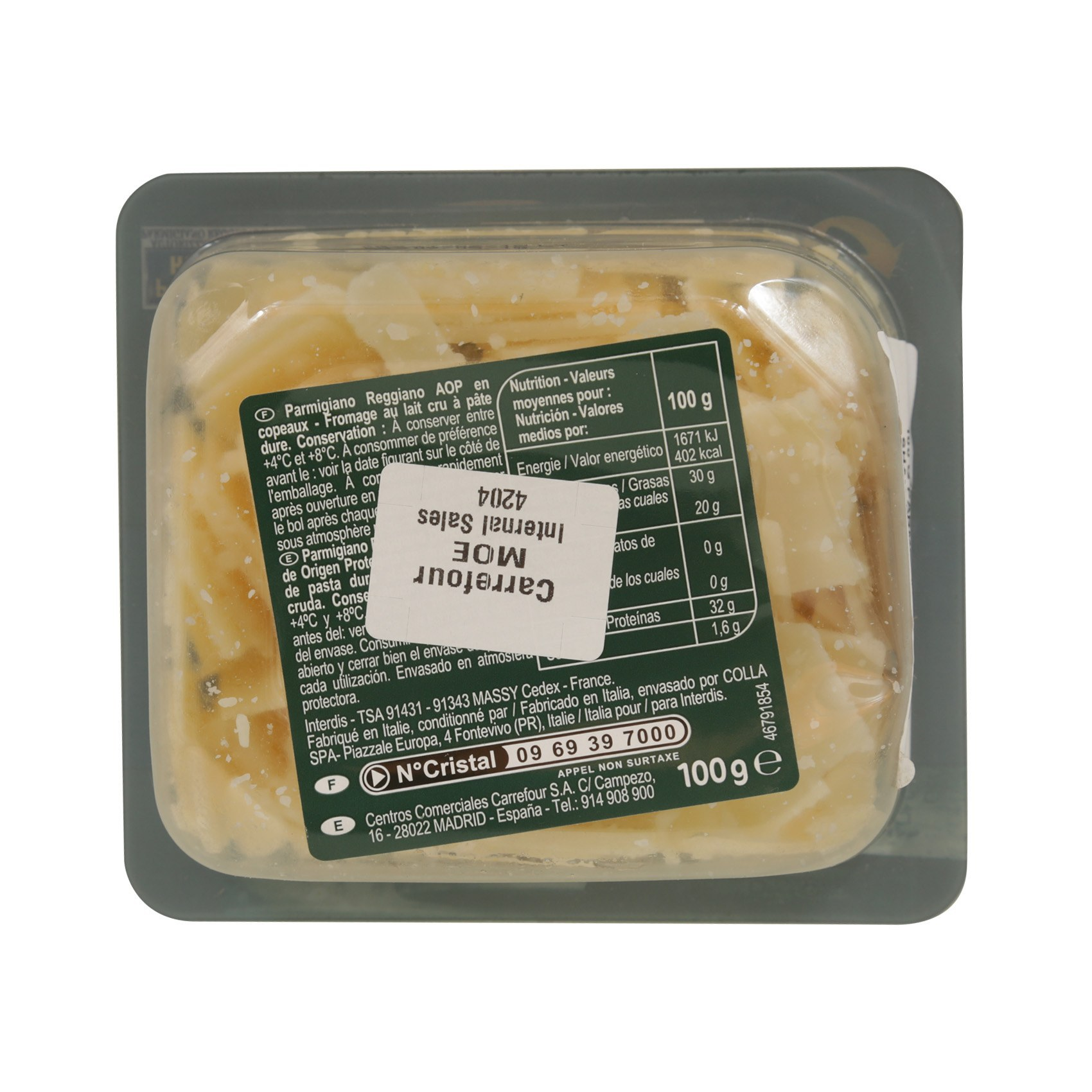 CRF PARMESAN PIECES 100G