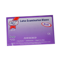 Rz Latex Gloves 100 Pieces Large Blue