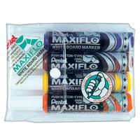 Pentel Maxiflo White board Marker Chl 4Pcs