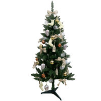 Christmas Tree - Green Tree 150Cm With 80 Deco Natural Look Plastic Stand N40