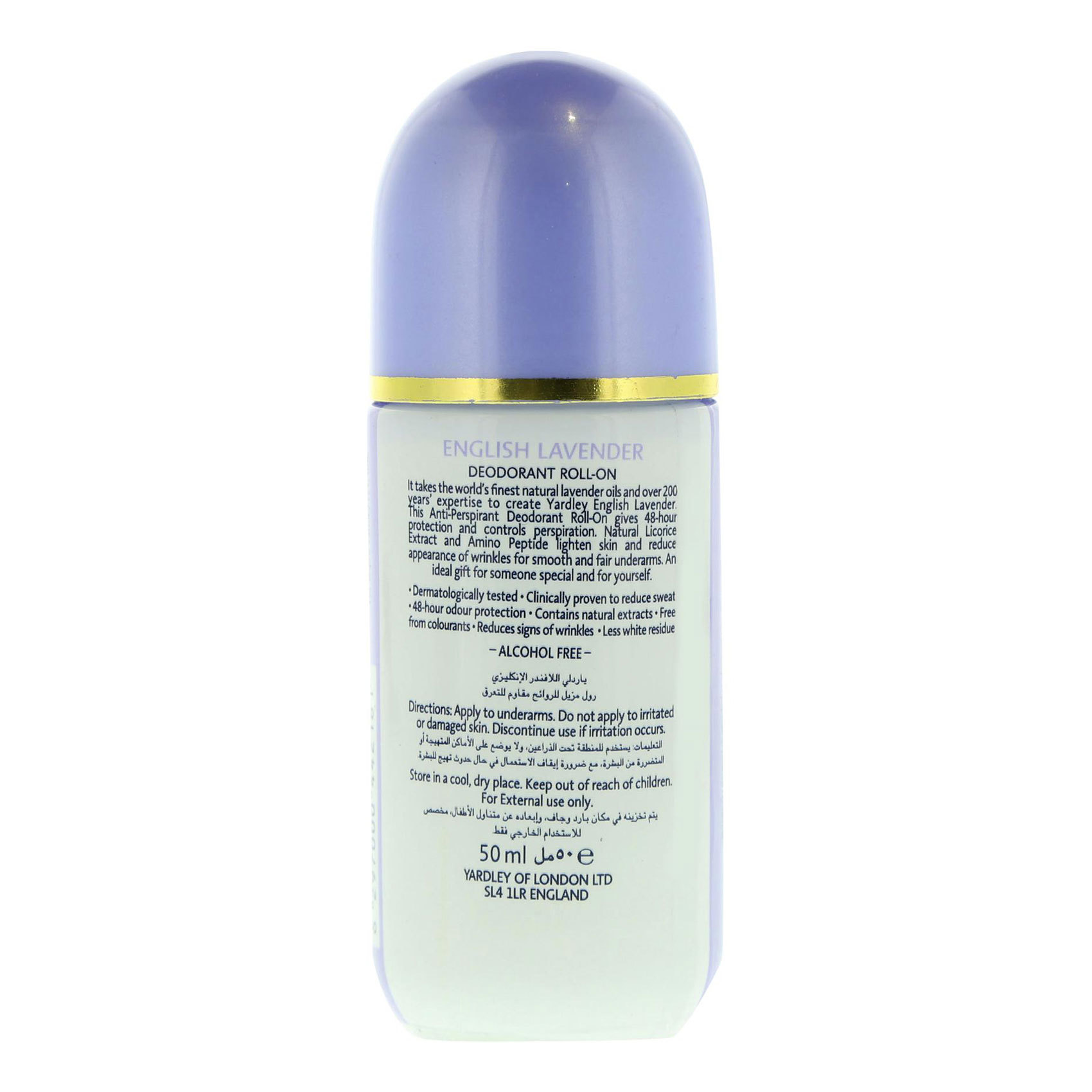 YARDLEY ROLL ON LAVENDER 50ML