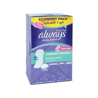 always pantyliners comfort protect fresh 40 pieces