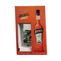 Aperol F.Barbieri Liqueur 70CL + Glass Free