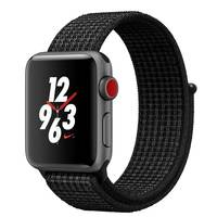 Apple Watch Series-3 38mm Nike+ GPS+ Cellular Space Gray Aluminium Case With Black/Pure Platinum Nike Sport Loop (MQMA2AE/A)