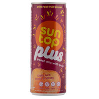 Suntop Plus Peach Mix With Pulp 240ml