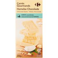 Carrefour White Choco With Coconut 200g
