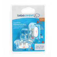 Bebeconfort Reversible Orthodontic Silicone Soother Sport Grey (6 - 18 M) x2
